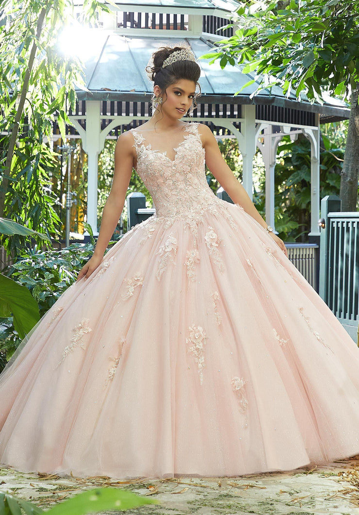 3D Floral Applique Quinceanera Dress by Mori Lee Vizcaya 89244-Quinceanera Dresses-ABC Fashion