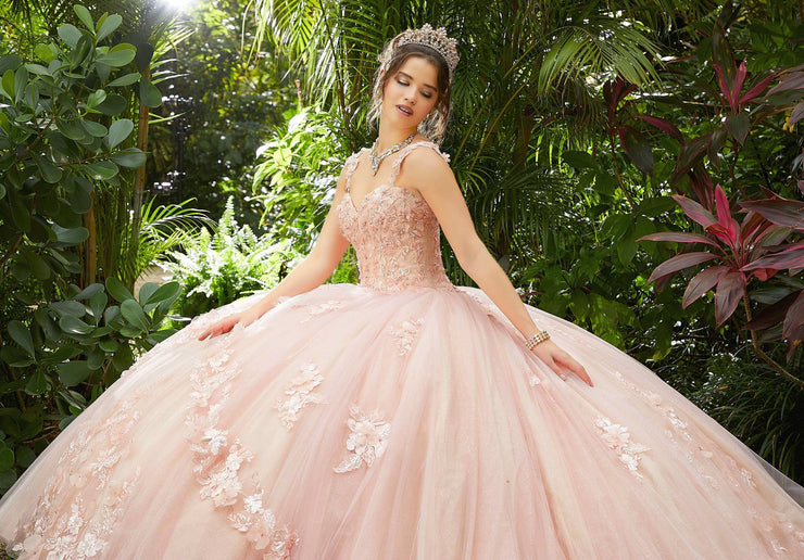 3D Floral Applique Quinceanera Dress by Mori Lee Vizcaya 89286
