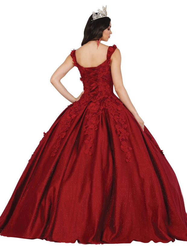 3D Floral Applique Sweetheart Ball Gown by Dancing Queen 1501