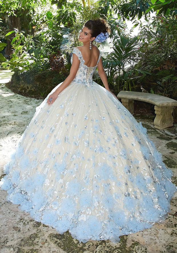 3D Floral Embroidered Quinceanera Dress by Mori Lee Valentina 34011-Quinceanera Dresses-ABC Fashion