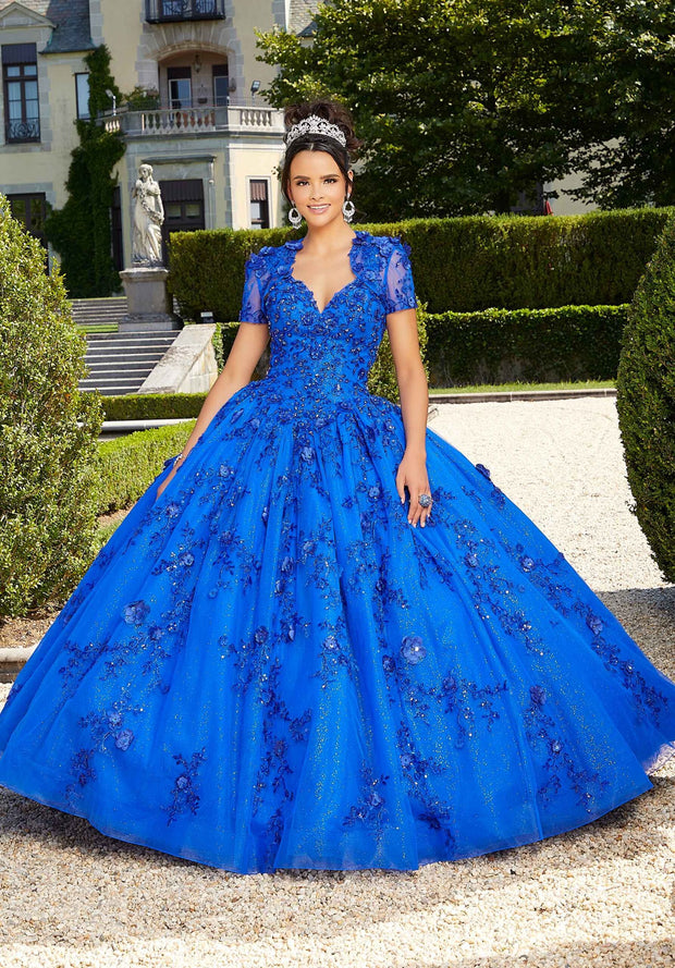 3D Floral Quinceanera Dress by Mori Lee Valencia 60133