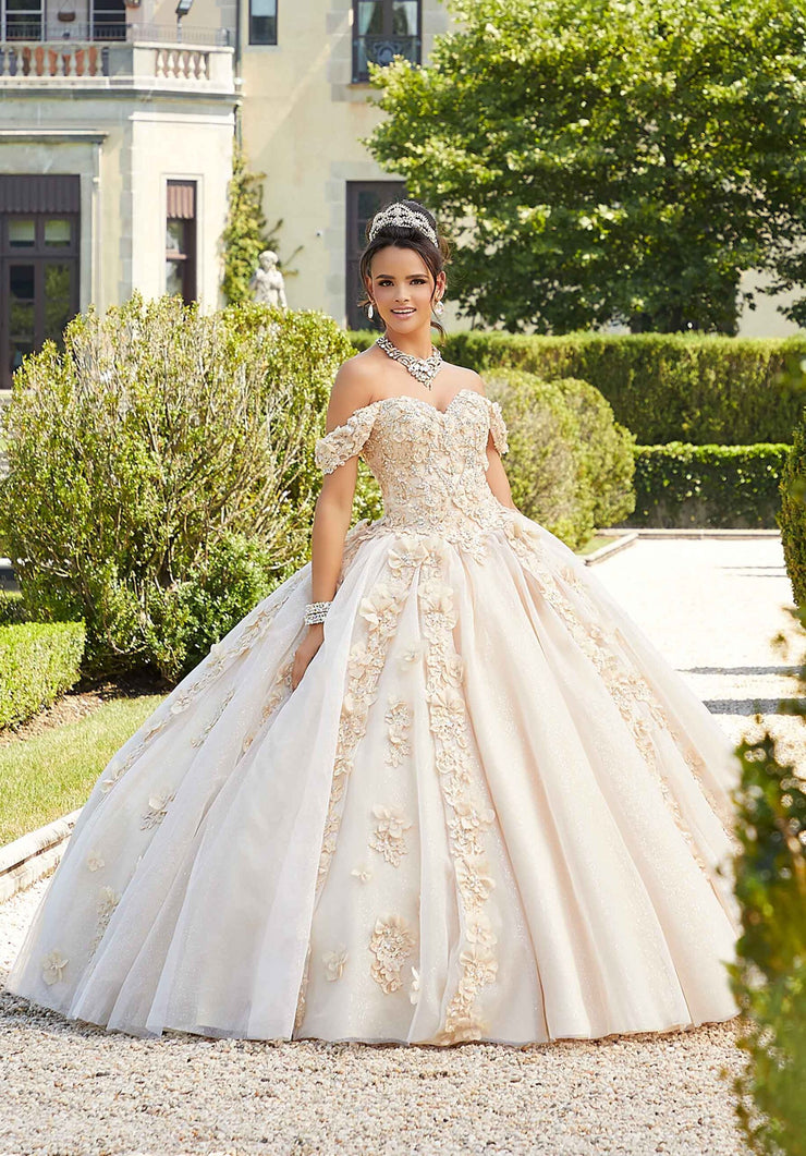 3D Floral Quinceanera Dress by Mori Lee Vizcaya 89301