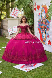 3D Floral Quinceanera Dress by Ragazza DV52-552