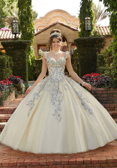 3D Floral Sweetheart Quinceanera Dress by Mori Lee Valencia 60123
