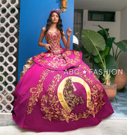 4-Piece Charro Quince Dress by Ragazza M27-127