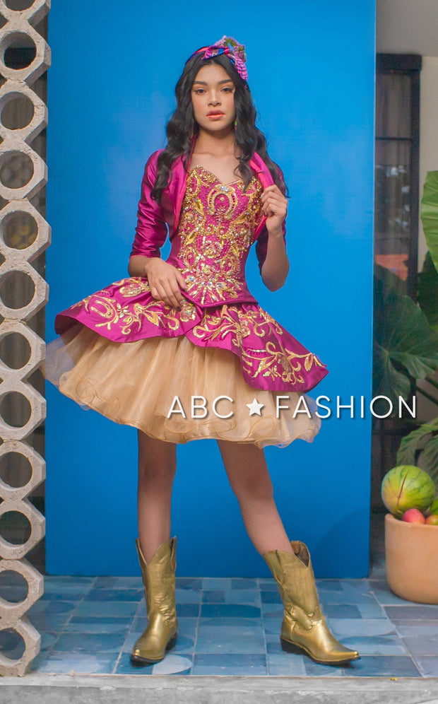 4-Piece Charro Quinceanera Dress by Ragazza M27-127
