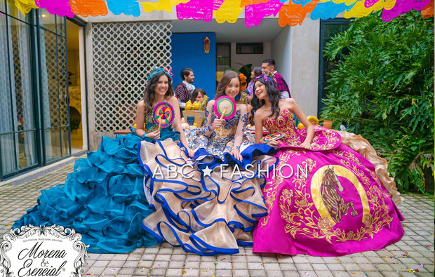 4-Piece Charro Quince Dress by Ragazza M28-128