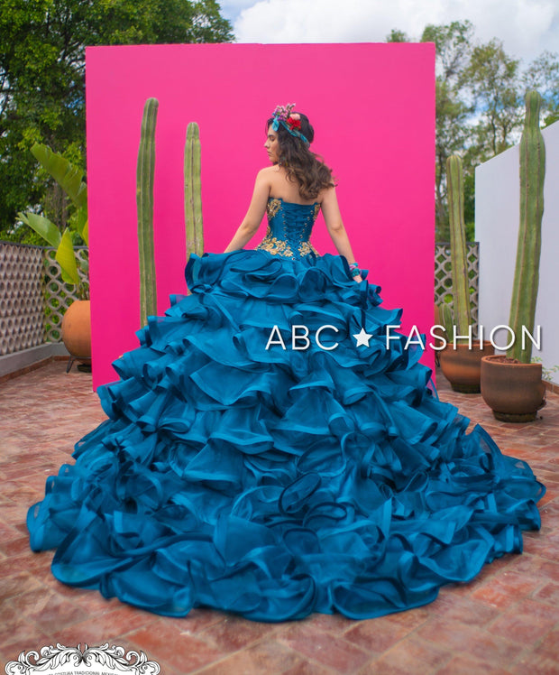 4-Piece Charro Quinceanera Dress by Ragazza M28-128