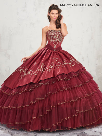 A-Line Charro Quinceanera Dress by Mary's Bridal M4Q2007-Quinceanera Dresses-ABC Fashion