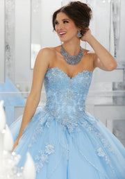 A-line Strapless Quinceanera Dress by Mori Lee Valencia 60024-Quinceanera Dresses-ABC Fashion