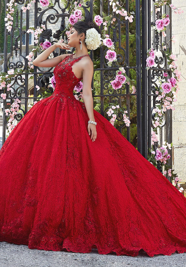 Allover Lace Quinceanera Dress by Mori Lee Valentina 34026-Quinceanera Dresses-ABC Fashion