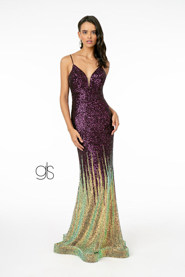 Allover Ombre Sequin Mermaid Gown by Elizabeth K GL2899