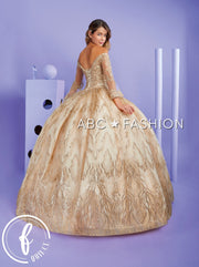 Applique Bell Sleeve Quinceanera Dress by Forever Quince FQ823
