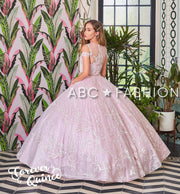 Applique Cold Shoulder Quinceanera Dress by Forever Quince FQ800-Quinceanera Dresses-ABC Fashion
