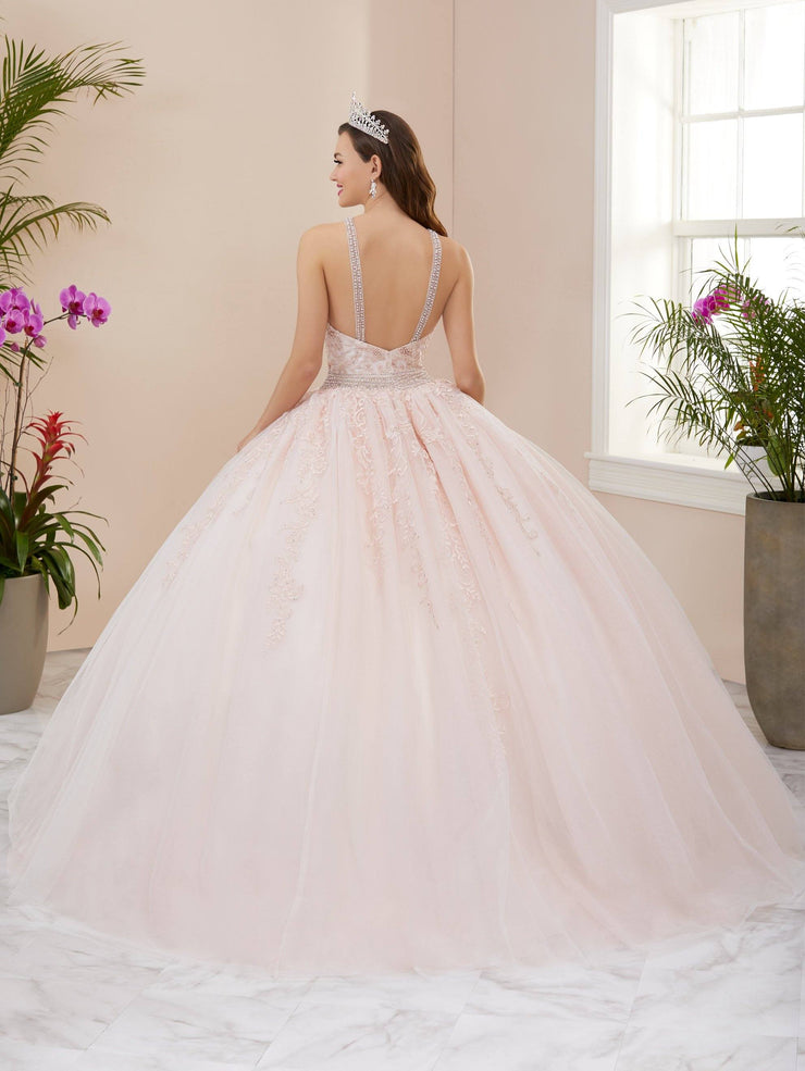 Applique Halter Quinceanera Dress by Fiesta Gowns 56405