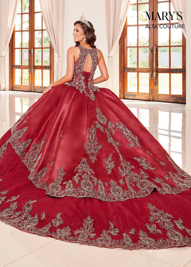 Applique Illusion Quinceanera Dress by Alta Couture MQ3047-Quinceanera Dresses-ABC Fashion
