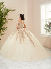 Applique Off Shoulder Quinceanera Dress by Fiesta Gowns 56400
