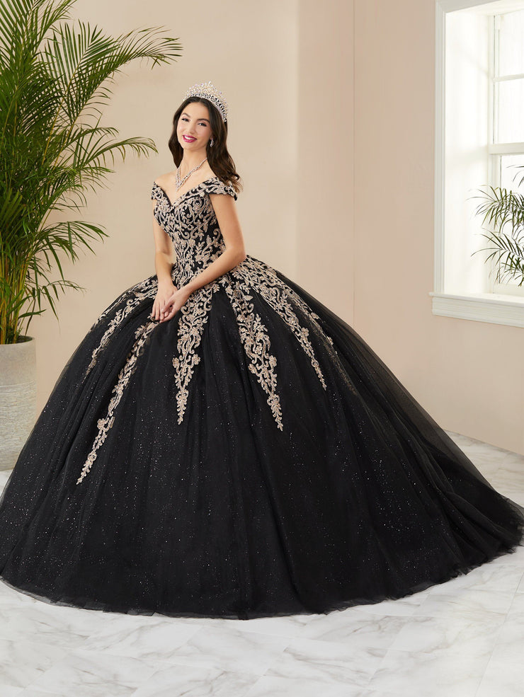 Applique Off Shoulder Quinceanera Dress by Fiesta Gowns 56400 (Size 18 - 26)