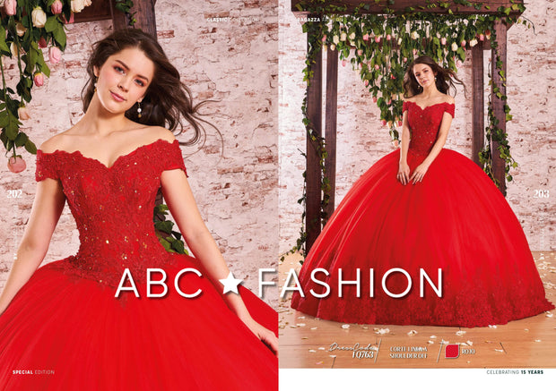 Applique Off Shoulder Quinceanera Dress by Forever Quince FQ763-Quinceanera Dresses-ABC Fashion