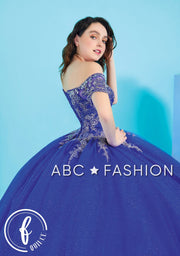 Applique Off Shoulder Quinceanera Dress by Forever Quince FQ827