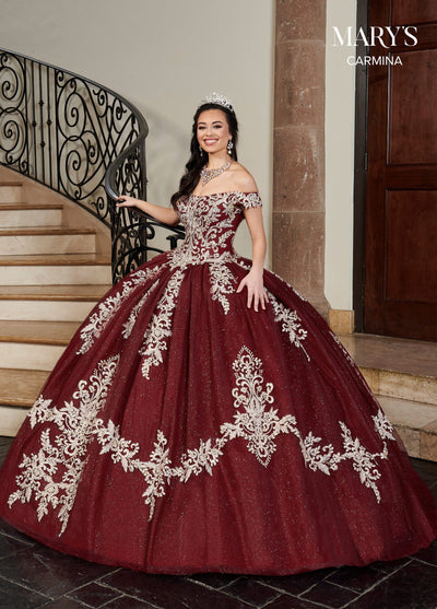 Applique Off Shoulder Quinceanera Dress by Mary's Bridal MQ1071