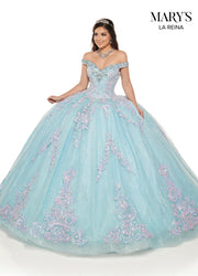 Applique Off Shoulder Quinceanera Dress by Mary's Bridal MQ2119