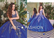 Applique Sleeveless Glitter Quinceanera Dress by Forever Quince FQ796-Quinceanera Dresses-ABC Fashion