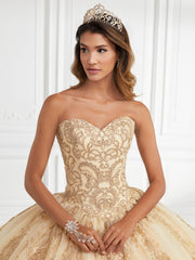 Applique Strapless Quinceanera Dress by Fiesta Gowns 56393 (Size 10 - 16)-Quinceanera Dresses-ABC Fashion