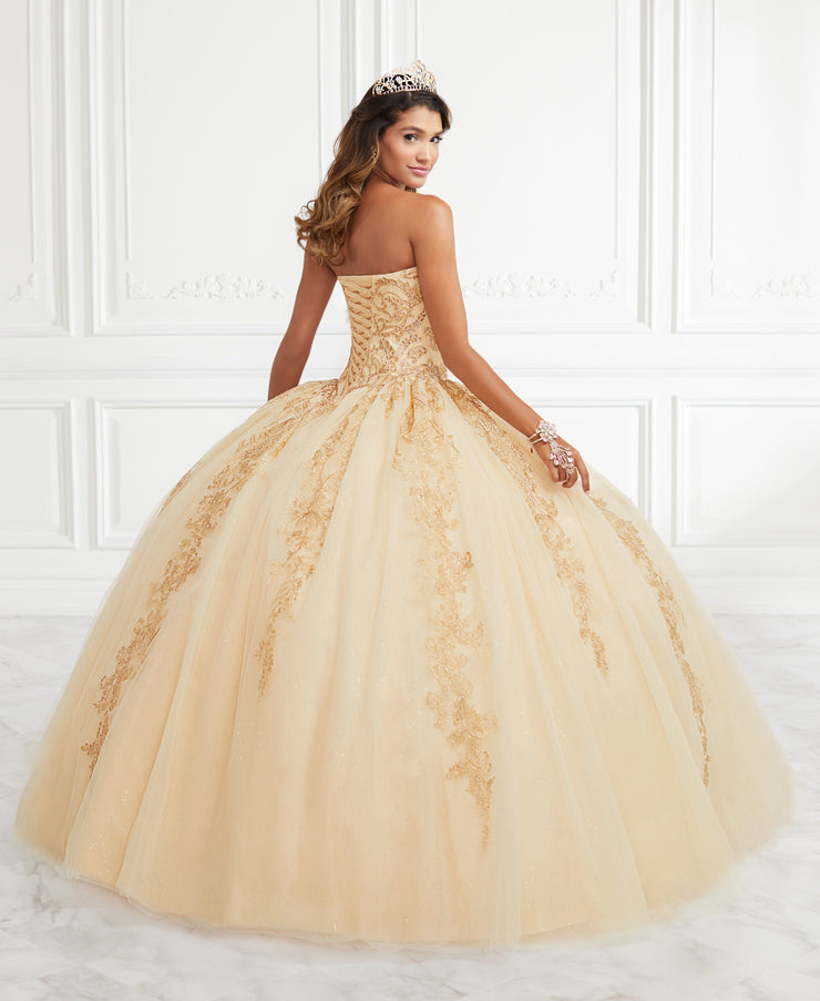 Applique Strapless Quinceanera Dress by Fiesta Gowns 56393 (Size 28 - 30)-Quinceanera Dresses-ABC Fashion