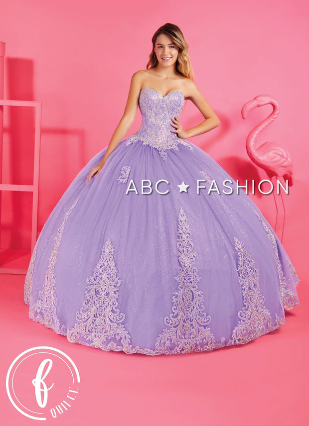 Applique Strapless Quinceanera Dress by Forever Quince FQ816