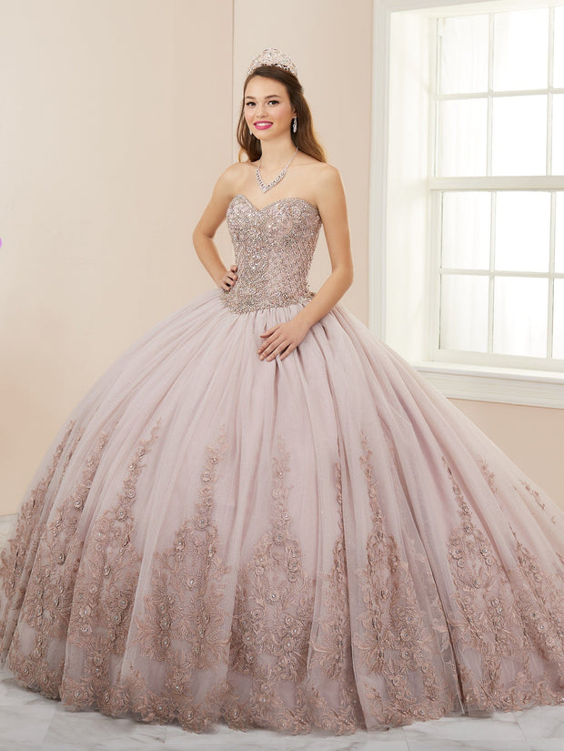 Applique Strapless Quinceanera Dress by House of Wu 26962