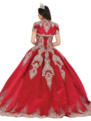 Applique Sweetheart Ball Gown with Bolero by Dancing Queen 1494