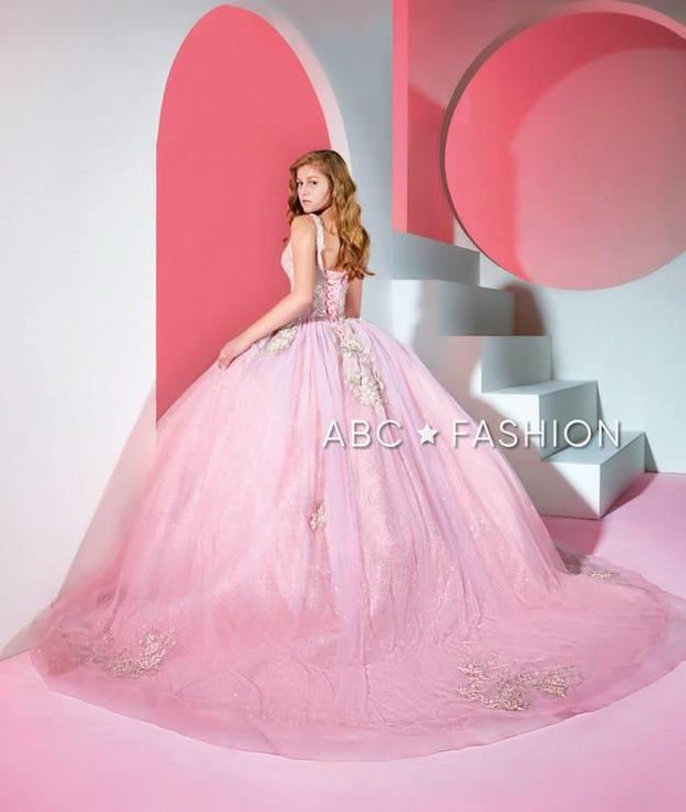 V-Neck Quinceanera Dress by Ragazza DV43-543