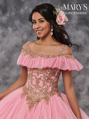 Appliqued Off the Shoulder Quinceanera Dress by Mary's Bridal MQ1026-Quinceanera Dresses-ABC Fashion