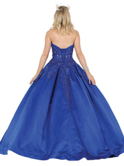 Bead Embellished Strapless Ball Gown by Dancing Queen 1485