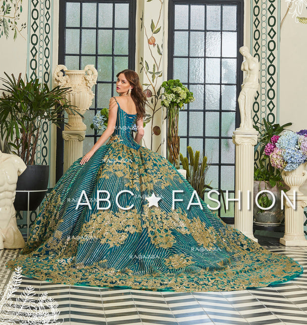 Beaded 2-Piece V-Neck Quinceanera Dress by Ragazza Fashion D20-520-Quinceanera Dresses-ABC Fashion