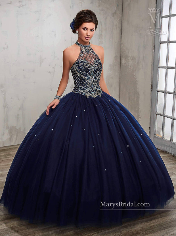 Beaded A-line Quinceanera Dress by Mary's Bridal Princess 4Q503-Quinceanera Dresses-ABC Fashion