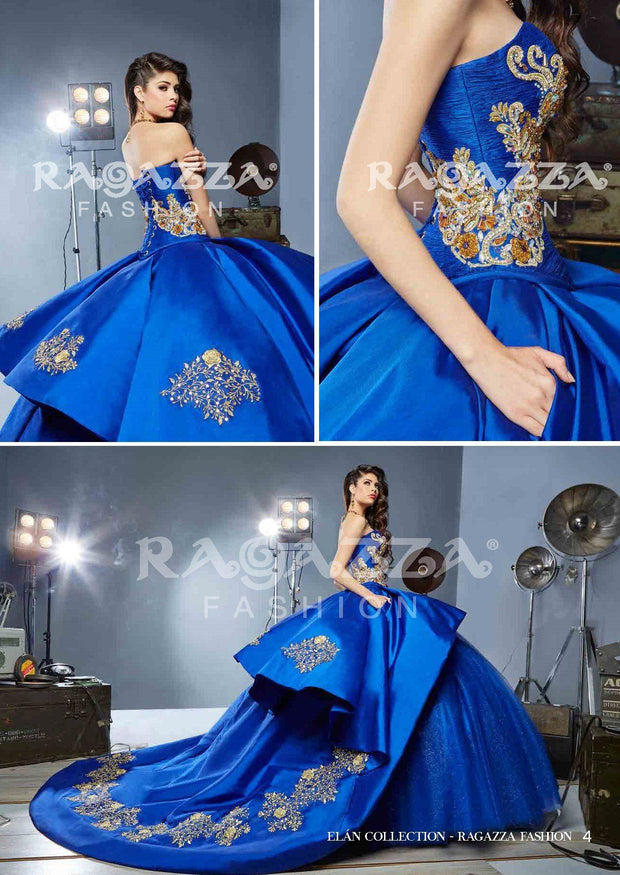 Beaded A-line Quinceanera Dress by Ragazza Fashion B54-354-Quinceanera Dresses-ABC Fashion