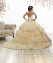 Beaded Cap Sleeve Quinceanera Dress by House of Wu 26880-Quinceanera Dresses-ABC Fashion