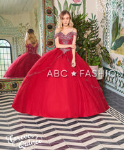 Beaded Cold Shoulder Quinceanera Dress by Forever Quince FQ797-Quinceanera Dresses-ABC Fashion