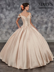 Beaded Cold Shoulder Quinceanera Dress by Mary's Bridal MQ1024-Quinceanera Dresses-ABC Fashion