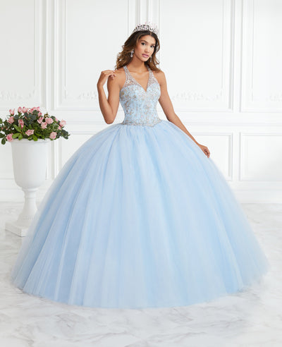 Beaded Halter Quinceanera Dress by Fiesta Gowns 56394 (Size 10 - 16)-Quinceanera Dresses-ABC Fashion