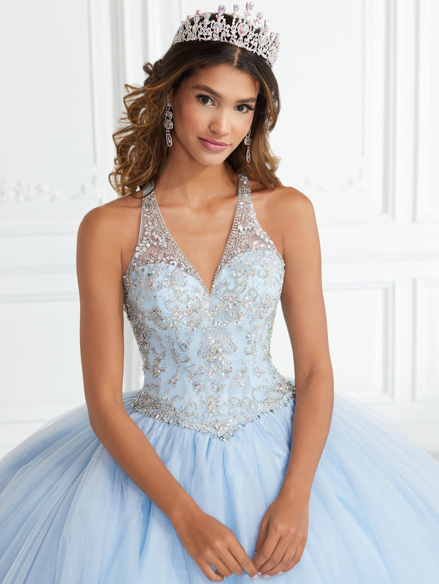 Beaded Halter Quinceanera Dress by Fiesta Gowns 56394 (Size 18 - 26)-Quinceanera Dresses-ABC Fashion