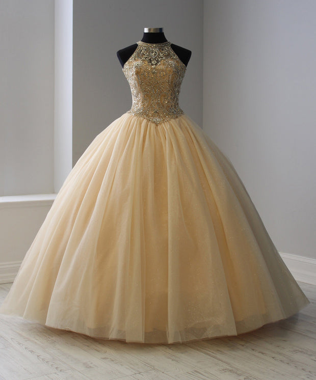 Beaded Halter Tulle Quinceanera Dress by House of Wu 26914-Quinceanera Dresses-ABC Fashion