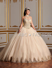 Beaded High-Neck Quinceanera Dress by House of Wu 26881-Quinceanera Dresses-ABC Fashion