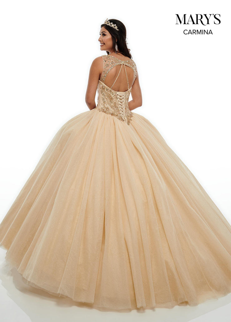 Beaded Illusion Quinceanera Dress by Mary's Bridal MQ1062-Quinceanera Dresses-ABC Fashion