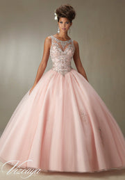 Beaded Illusion Quinceanera Dress by Mori Lee Vizcaya 89067-Quinceanera Dresses-ABC Fashion