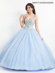 Beaded Lace Quinceanera Dress by Mary's Bridal M4Q2020-Quinceanera Dresses-ABC Fashion