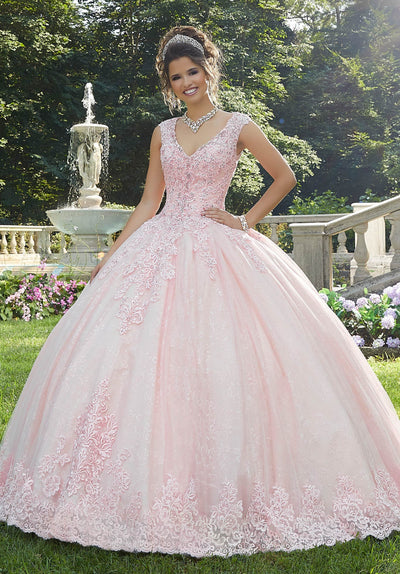 Beaded Lace Quinceanera Dress by Mori Lee Vizcaya 89273-Quinceanera Dresses-ABC Fashion