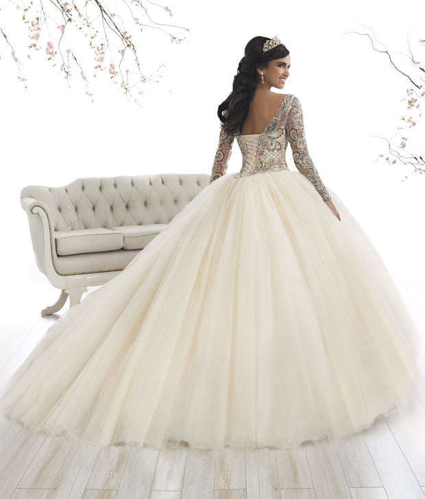 Beaded Long Sleeved Quinceanera Dress by House of Wu 26875-Quinceanera Dresses-ABC Fashion